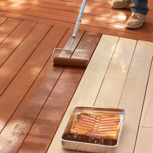 How To Stain A Cedar Wood Deck All
