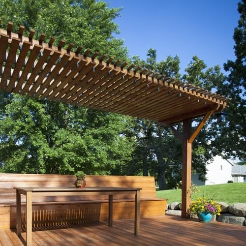 How to Stain a Pergola