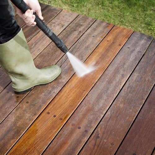 How Can I Safely Power Wash My Deck?