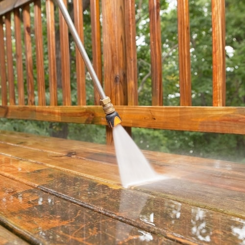 Deck Staining Step 1 - Clean the Deck