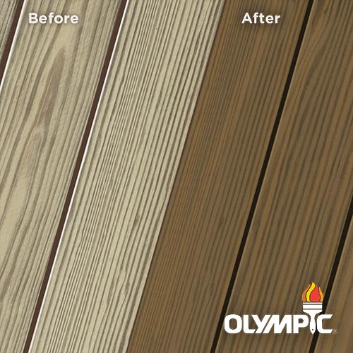 Exterior Wood Stain Colors - Dark Oak - Wood Stain Colors From OlympicStains.com