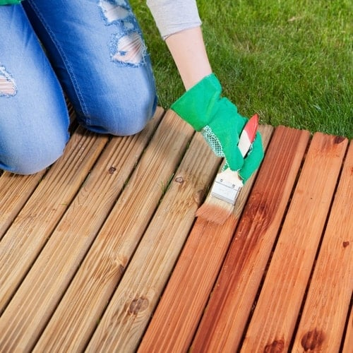 Deck Staining Step 3 - Staining Your Deck