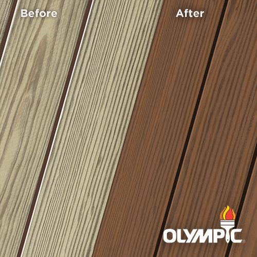 Exterior Wood Stain Colors - Walnut - Wood Stain Colors From OlympicStains.com
